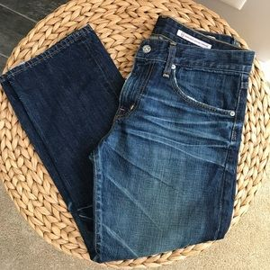 AG Ex Boyfriend Crop Distressed Jeans